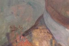 Autoportrait non daté, huile sur toile ( musée de Pontevedra) Détail signature