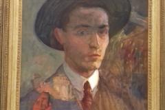 Autoportrait non daté, huile sur toile ( musée de Pontevedra) avec cadre