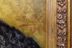 Mi Madre, 1904 Huile sur bois Musée de Pontevedra (détail signature)