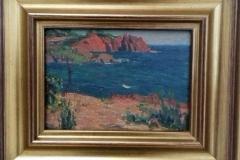 Paysage 2, huile sur bois. 1918. Musée de Pontavedra