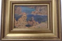 Paysage, huile sur bois. 1918. Musée de Pontavedra