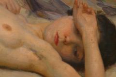 Nu, déposé au musée des Beaux Arts de la Corogne par Antonio Benjamin Pastor 1904. Huile sur toile, détail