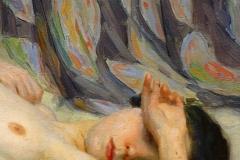 Nu, déposé au musée des Beaux Arts de la Corogne par Antonio Benjamin Pastor 1904. Huile sur toile détail