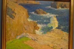 la femme en blanc au milieu des vagues, Musée des Beaux arts de la Corogne