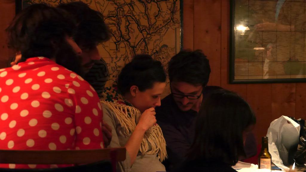 Malvina et Bruno, notre chef cuisinier de cette soirée. Bravo Bruno !!!