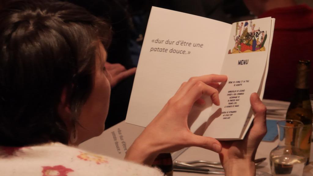 Le menu, le programme !
