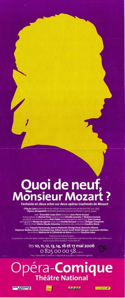 Quoi de neuf Monsieur Mozart ?